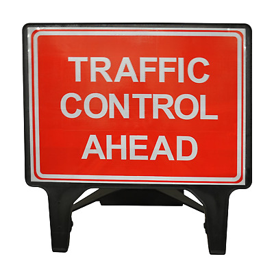 Traffic Control Ahead - 1050 x 750mm Road Traffic Safety Sign - BRAND NEW