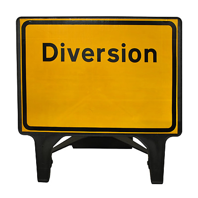 Diversion - 1050 x 750mm Road Traffic Safety Sign - BRAND NEW