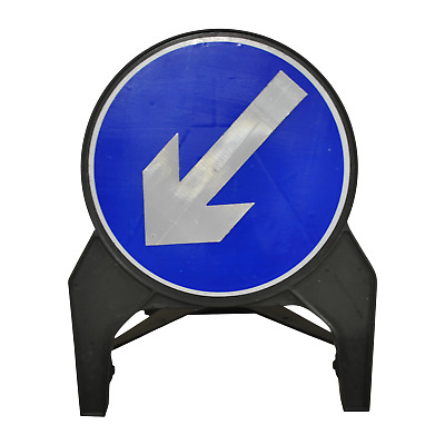 Keep Left or Keep Right Reversible Road Traffic Sign - UK Made & BRAND NEW