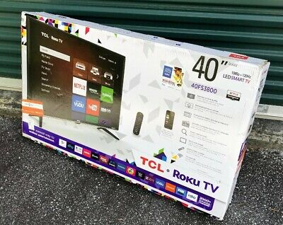 """*Damaged* TCL LED Smart TV 1080p 40"""" Roku Connected Remote Streaming Television"""