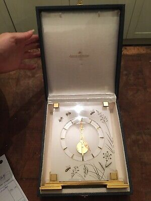 Cased Swiss Jaeger LeCoultre Marina Skeleton Desk Clock
