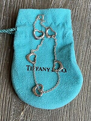 Authentic Tiffany & Co Elsa Peretti 5 Open Heart Bracelet