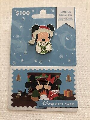 Disney Parks Christmas Holiday 2019 Gift Card Mickey Mouse Pin LE In Hand