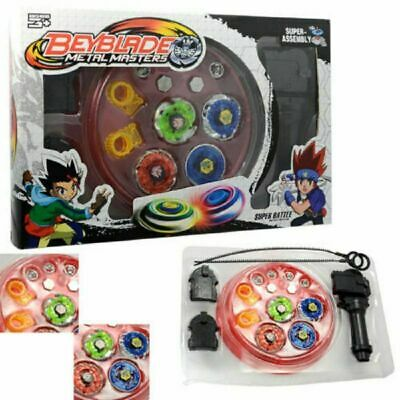 4D Beyblade Set Fusion Top Metal Rapidity Masters Launcher Grip Kids Toys Gift
