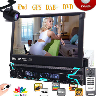For Sony Lens BackCamera+GPS Single 1Din Car Stereo Radio DVD Player BT with Map
