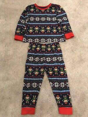 Nutmeg Boys Elves Christmas Pyjamas 1.5-2 Years