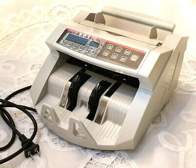 Bill Counter Money Counting Cash Machine Counterfeit Detector UV/MG Bank LCD