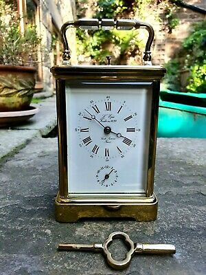 A Superb Quality 8-Day Strike / Repeat / Alarm Carriage Clock From L'epee