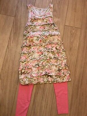 NEXT GIRLS OUTFIT RUFFLE DRESS & LEGGINGS SET AGE 11 YRS Holidays & parties