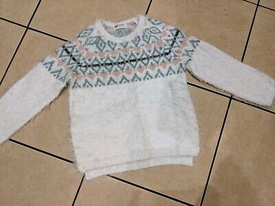 Girls H&M Fluffy Winter Jumper 6-7 7-8 yrs