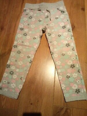 Girls Grey Tracksuit Bottoms Age 4-5 Years