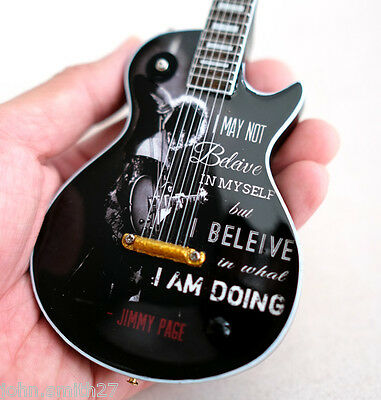 Miniature Guitar Quote from Rock Star : Led Zeppelin Jimmy Page Free Shipping