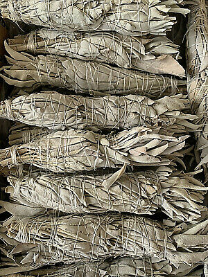"1 White Sage Smudge Stick 4"" - 5"" California White Sage Smudge Stick"