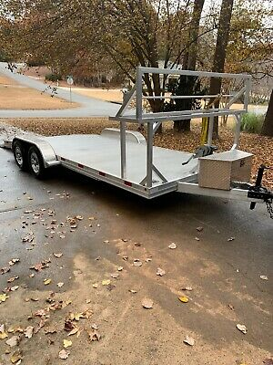 2018 Aluminum 18 FT Trailer With Winch  Like New ( No Reserve )