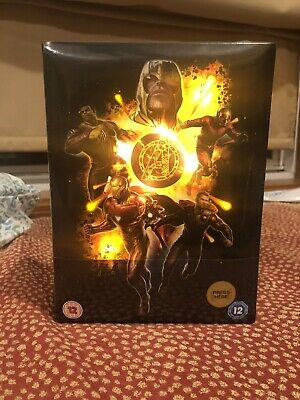 AVENGERS END GAME 3D 2D BLU RAY Zavvi Collector's Edition STEELBOOK Lighting box