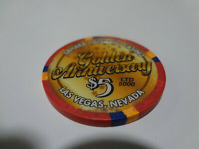 Sahara Casino 5.00 Casino Chip Limited Edition 5000 Fifty Years 2002 Unc.