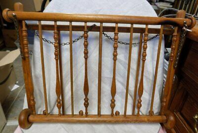 Antique Wall Magazine/Newspaper Holder Rack~Wooden~Victorian
