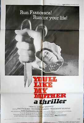 YOU'LL LIKE MY MOTHER MOVIE POSTER Patty Duke Horror FIlm 1972