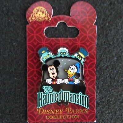 Disney Pin Haunted Mansion Mickey & Donald in Doom Buggy with Hitchhiking Ghosts