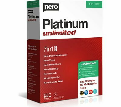 NERO Platinum Unlimited 2020 - Lifetime for 1 user - Currys
