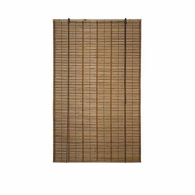 Bamboo Roman Wooden Roll Up Blinds Woven Brown Natural Indoor Patio Filtering