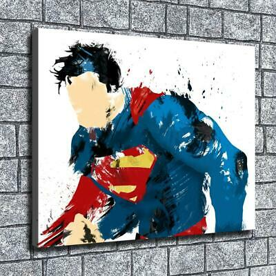 "12""x16""Fuzzy superman HD Canvas print Home decor Room Wall Art Paintings Picture"