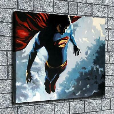 "12""x16""Leap superman HD Canvas print Home decor Room Wall Art Paintings Pictures"