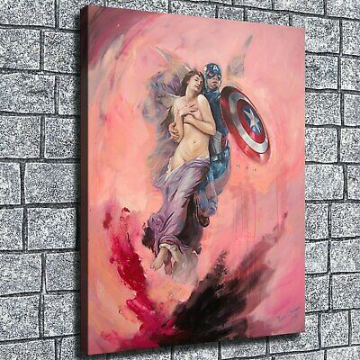 """12""""x16Captain America saves people HD Canvas print Home decor Wall Art Paintings"""