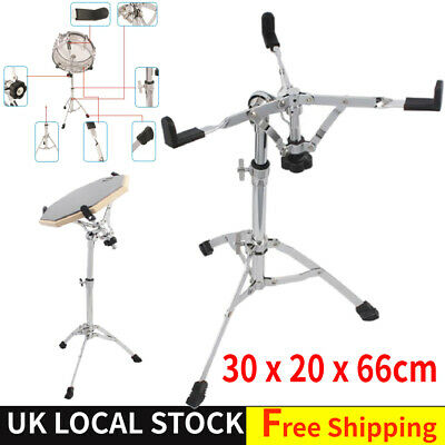 "Snare Drum Stand Chrome Hardware Double Extended Height For Drums Under 15"" UK"