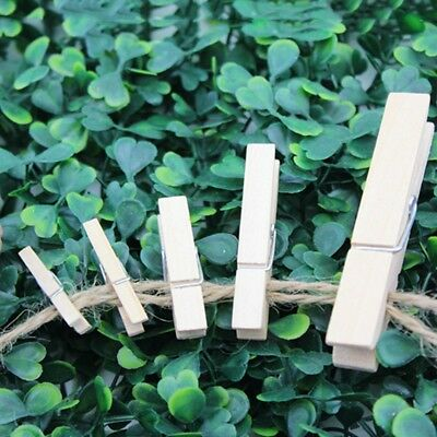 100* Wooden Clothes Pegs Clips Pine Washing Line Airer Dry Line Wood Peg Fine