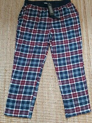 Mens PYJAMA BOTTOMS size XL lounge Pants brushed cotton NEW TAGS