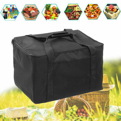Pizza Food Delivery Bag Insulated Thermal oxford Holds Bag Aluminium Foil Black