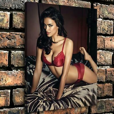 """12""""x16"""" Sexy Lingerie Girl HD Canvas prints Home decor Room Wall Art Pictures"""