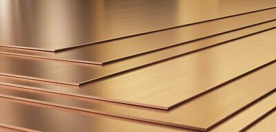 Copper Sheet plate guillotine Offcuts - Many thickness and sizes