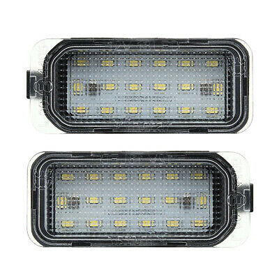 2PCS LED Licence Number Plate Light Fit Ford Max Focus Galaxy Mondeo Jaguar XF