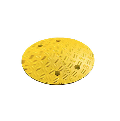 Round Circle Speed Humps 75mm - Traffic Calming Bumps - BLACK OR YELLOW