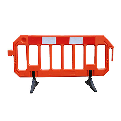 STREET BARRIER 8 Road Traffic Barrier - ORANGE - ROAD WORK BARRIERS TRAFFIC MANA