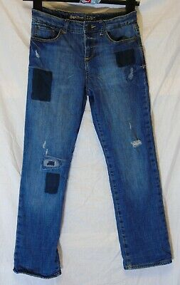 Girls Gap Blue Distressed Ripped Denim Fleece Lined Winter Jeans Age 12 Years