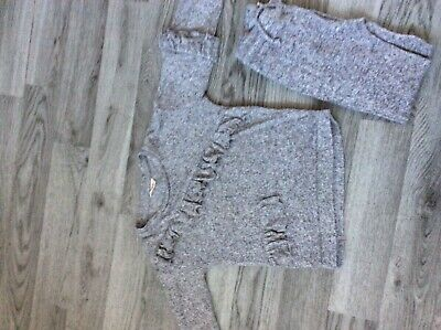 Girls Mini River Island Grey Frill Tracksuit Age 3-4