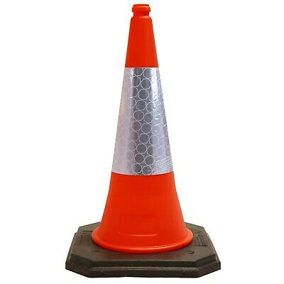 New Road Cone 75cm Traffic Cone 2 - Piece Heavy Duty - Highest Quality & UK Made