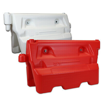 Water Filler Traffic Barrier - Holds Over 55+ Litres - Red and White Available