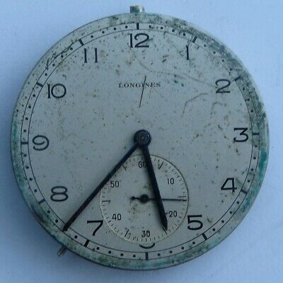 NICE ANTIQUE LONGINES POCKET WATCH CAL.17.89 MOVEMENT  c.1945  A/F