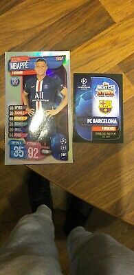 2019/20 TOPPS MATCH ATTAX CHAMPIONS LEAGUE mbappe oversized card