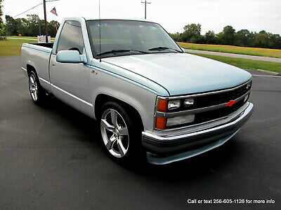 """1989 Chevrolet C/K Pickup 1500 Lowered ! NEW ENGINE WITH WARRANTYV8 Low Res. 1989 Chevy Silverado C10 C1500 * Sharp Truck ! 20""""  Rims Turns heads everywhere"""