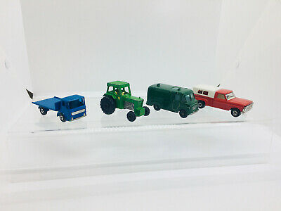 Vintage Matchbox Series 62 TV Service Van - 6 Ford Pickup - Tractor and Lorry