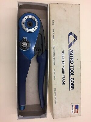 Astro Tool Corporation, Adjustable Terminal Crimper, Part Number 615708