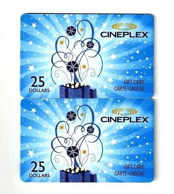 $50 in Cineplex Gift Cards (2x $25) / 10% Off / Use Canada Wide / Free Shipping