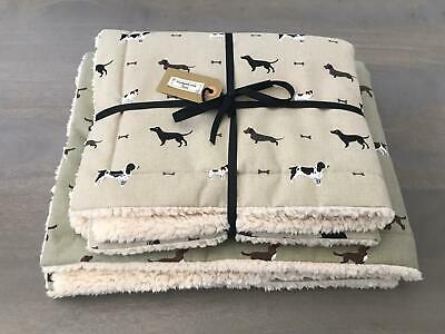 Sophie Allport and Porter & Stone Fabric ~ Cosy double-sided Dog Blanket/Throw ~