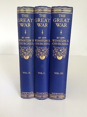 The Great War by Rt. Hon. Winston S. Churchill 3 Volume Set
