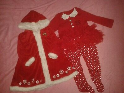 Girls Age 12-18 Months Christmas Robe And Sleepsuit Mothercare